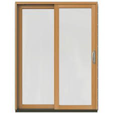 w 2500 mesa red left hand clad wood sliding patio door with stain fruitwood interior com