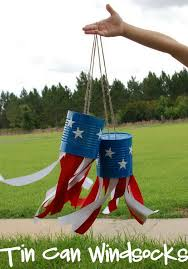 4th of july tin can windsocks what a cute idea to make these tin can