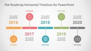 5 year timeline template flat timelines powerpoint templates