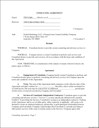 Consultant Contract Template Template It Consultant Contract Template Simple Consulting 2