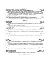 Computer Science Resume Template Computer Science Student Resume
