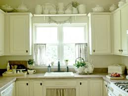 Kitchen Drapery Kitchen Awesome Kitchen Window Curtain Ideas With Dark Green