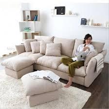 Webetop Nieuwe Collectie Veer Doek Sofa Moderne Meubels Set