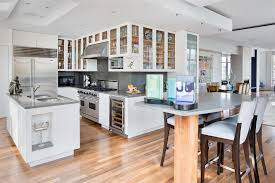 Solid Wood Floor In Kitchen Outstanding Cream Oak Wood Floor In Kitchen Chocolate Mahogany