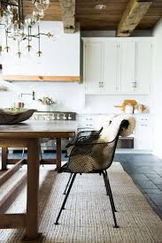home decorating ideas bohemian rustic modern country kitchen with black wire chairs sputnik chandelier and wh