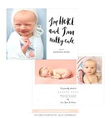 Birth Announcement Template Organic Bloom Bundle Photoshop Baby ...