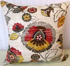 Designer Decorative Pillows For Couch Designer Decorative Pillow CoverKravet Floral Throw PillowRed 96