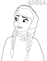 Frozen Anna Colouring Pages Zupa Miljevcicom