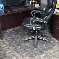 evolve modern rectangle office low and um pile carpet beveled edge chair mat