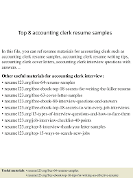Entry Level Accounting Clerk Resume Sample entry level clerical resume Selolinkco 48