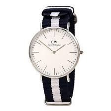daniel wellington watches collection on daniel wellington 0204dw mens white dial blue white strap watch
