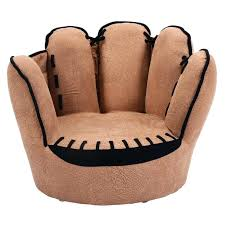 kids sofa couch chair five finger baseball glove armrest chaise lounge bean bag for chairs