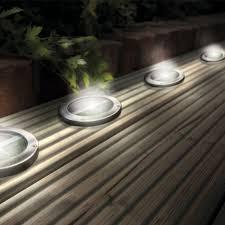 floor lighting led. stainless steel solar led light deck ground lightsa set of four lights patio floor lighting led
