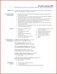 Icu Rn Resume Inspirational Rn Resume Objective Entry Level Nursing