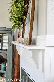 i love how this simple diy mantel changes the fireplace find out how to build