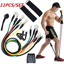 Sports & Fitness 11PCS Fitness Elastic <b>Bands Set</b> Fitness ...