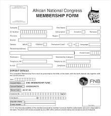 Club Membership Form Template Membership Application Template Social Club Application Template