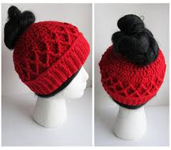 Ponytail Hat Crochet Pattern Fascinating Messy Bun Hat CROCHET PATTERN Pattern For Crochet Ponytail