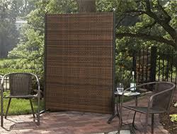 Versare Outdoor Wicker Resin Room Divider - Privacy Screens at Hayneedle