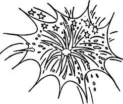 Small Picture Celebrate New Year with Fireworks Coloring Page Download Print