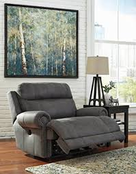 oversized recliners for sale. Ashley Furniture Signature Design Austere Power Oversized Recliner - Gray Recliners For Sale