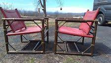 mcguire furniture company laced. Rare McGuire Furniture Set Officer\u0027s Chairs,excellent With Red Patent Leather Mcguire Company Laced 0