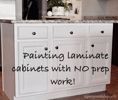 painting laminate cabinets with no prep work repurpose and upcycle