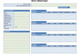 Free Gym Workout Chart Workout Chart For Excel