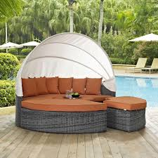 outdoor patio daybed. Modway Summon Canopy Outdoor Patio Sunbrella Daybed - Canvas Tuscan M