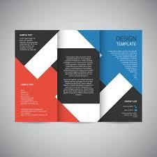 3 Fold Brochure Design Template Trifold Brochure Design