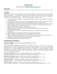 Property Manager Resume Resume Bank
