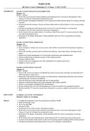 Lease Accounting Resume Samples Velvet Jobs