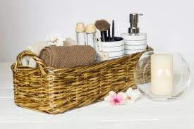 Bathroom Perfume Organizer Small Vanity Tray Storage Wicker Etsy