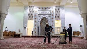 بالصور.. مسجد نمرة يتهيأ لاستقبال الحجاج في يوم عرفة