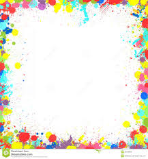 colorful paint splatter border. Colorful Inky Splash Frame Border And Paint Splatter