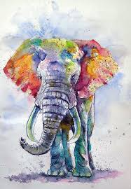 elephant painting on canvas new colorful elephant painting by kovacs anna brigitta