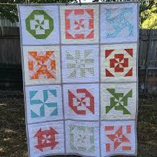 Disappearing pinwheel sampler quilt – free tutorials | Sewn Up & Disappearing pinwheel sampler quilt - free pattern Adamdwight.com