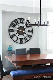 living room clocks dining room with nook gray owl rustic industrial chandelier and large clock living