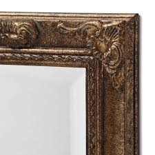 antique french style gold narrow wall mirror