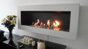 contemporary design coated steel frame gives the fireplace a nice black finish while the burner system sits at the centre well accentuated by the
