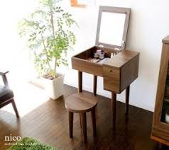 table vanity. love this design, japanese mid century vanity table--perfect for a table b