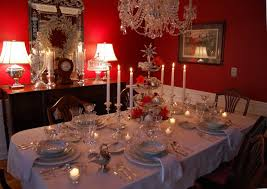 red and silver table decorations. Red And Silver Table Decorations Christmas Tablescape Setting With Tiered Centerpiece N