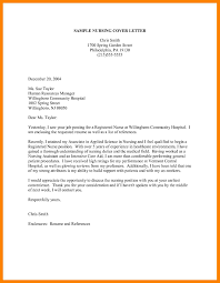 Example Of A Cover Letter For Nursing 15 Example Of A Cover Letter For Nursing Auterive31 Com