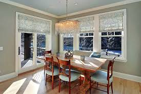 window treatments for sliding glass doors in dining room
