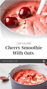 ⁣ 🔹in a separate bowl whisk 2 egg whites until stiff peaks form. Low Calorie Cherry Smoothie With Oats Recipe Hib