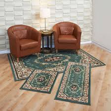 Rug Sets For Living Rooms Capri 3 Piece Rug Set Rose Garden Walmartcom
