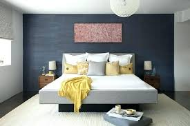 brown accent wall dark accent wall accent wall gray bedroom contemporary with dark blue accent wall