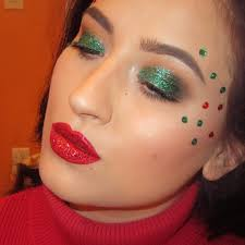 cute makeup for christmas