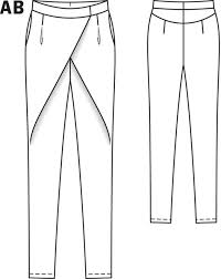 Pants Patterns Cool Crossover Pants 4848 48A Sewing Patterns BurdaStyle