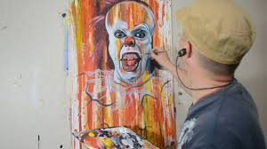 Cool Art Painting Stephen Kings It In A Cool Contemporary Art Style Youtube